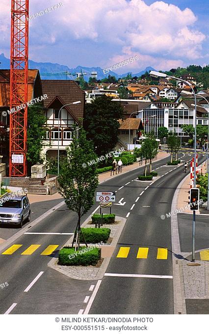 Road , Vaduz , Liechtenstein , Europe