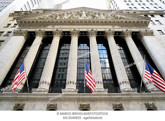 New York Stock Exchange in Manhattan, New York City, USA