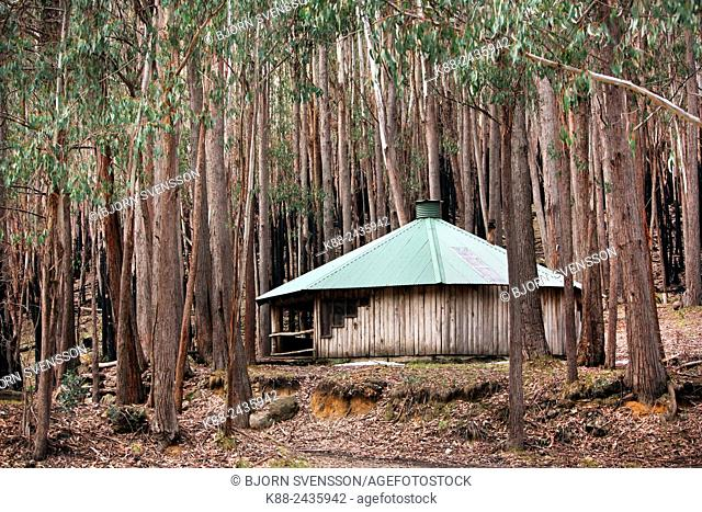 Shelter for skiers and bushwalkers at Mt Sterling National Park. Victoria, Australia