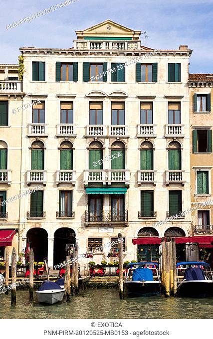 Buildings along a canal, Venice, Veneto, Italy