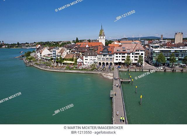 View of Friedrichshafen, Friedrichshafen on Lake Constance, Baden-Wuerttemberg, Germany, Europe