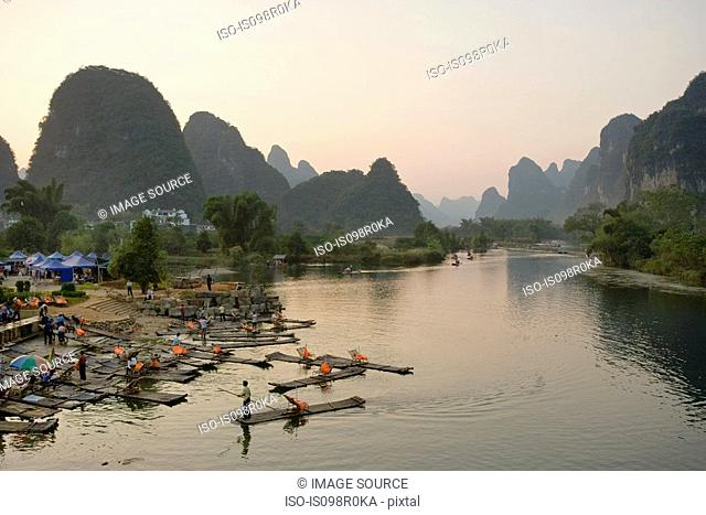 Rafts on yulong river