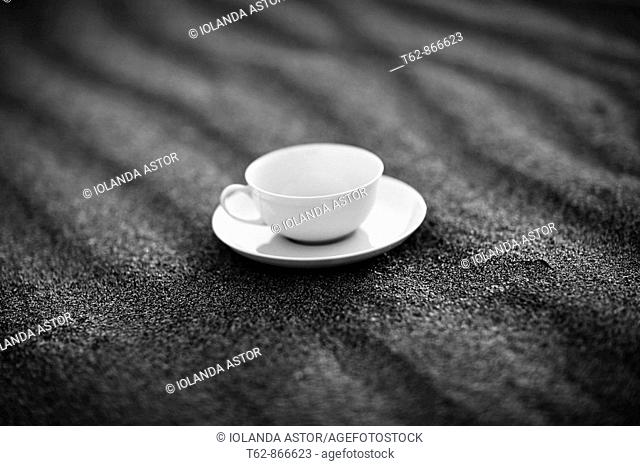 Cup of tea on the sand