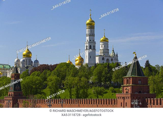 The Kremlin, UNESCO World Heritage Site, Moscow, Russia