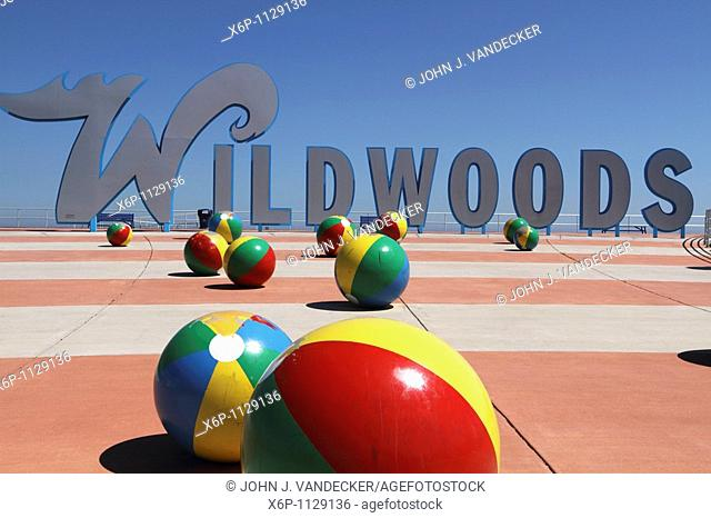 Wildwoods Welcome Sign at the Boardwalk  The Wildwoods are comprised of three towns: Wildwood, Wildwood Crest and North Wildwood and are a popular summer resort...