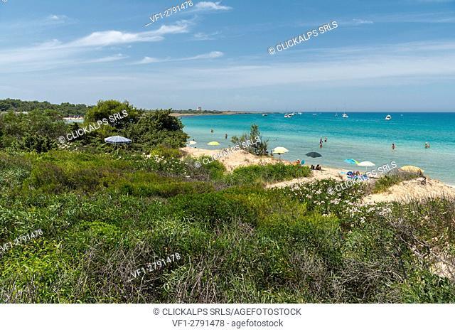 Gallipoli, province of Lecce, Salento, Apulia, Italy. The beach of Punta Pizzo