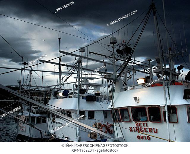 Fishing boats, Getaria, Gipuzkoa, Basque Country, Spain