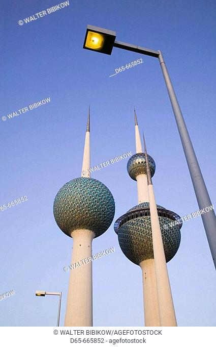 KUWAIT-Kuwait City: Kuwait Towers (b.1979) - Symbol of Kuwait - Dusk