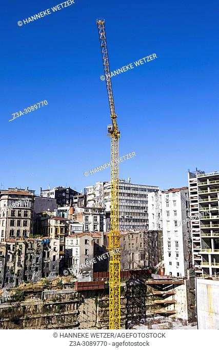 Construction site in Istanbul, Turkey