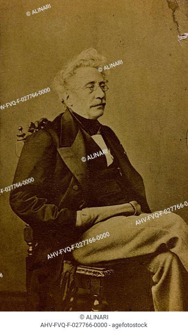 Portrait of Hippolyte Bellangé, French painter and lithographer, carte de visite, shot 1860-1866 by Franck Phot