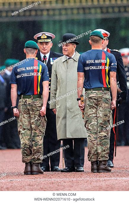 The Duke of Edinburgh attends The Captain General's Parade at Buckingham Palace. This is the Duke's final engagement before he retires