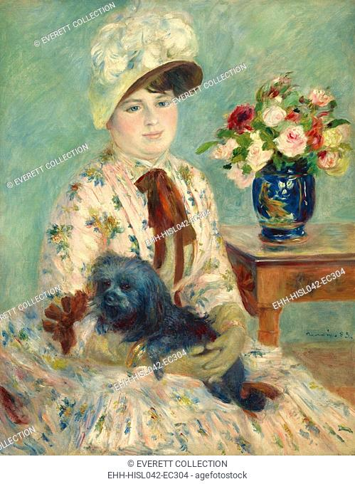 Mlle Charlotte Berthier, by Auguste Renoir, 1883, French impressionist painting, oil on canvas. In the 1880s, portraiture sustained Renoir financially