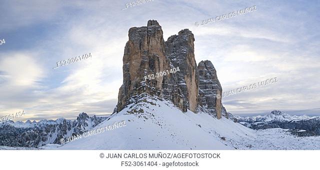 Tre Cime di Lavaredo, Dolomites, Unesco World Heritage Site, Italy, Europe