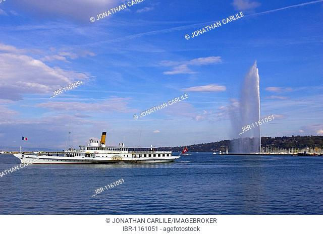 Lake Leman Fountain, Geneve, Switzerland, Europe