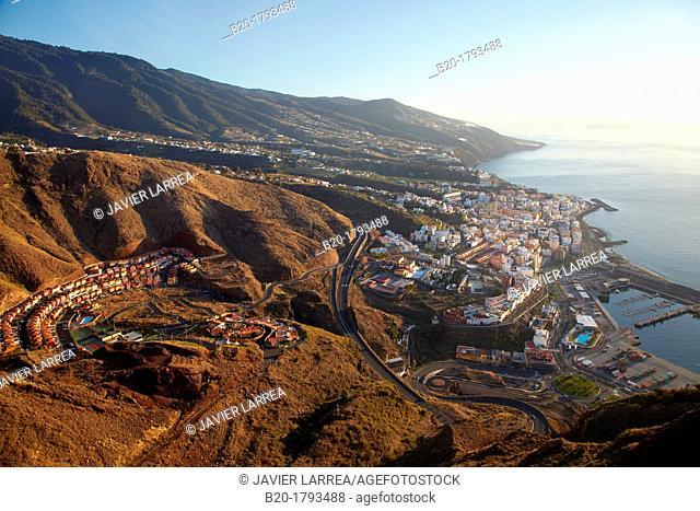 View from the Mirador de la Concepción, Santa Cruz de La Palma, La Palma, Canary Island, Spain