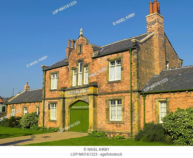 England, North Yorkshire, Ripon. The Workhouse Museum in Allhallowgate. The museum is housed in the Gatehouse building and aims to give visitors a glimpse of...