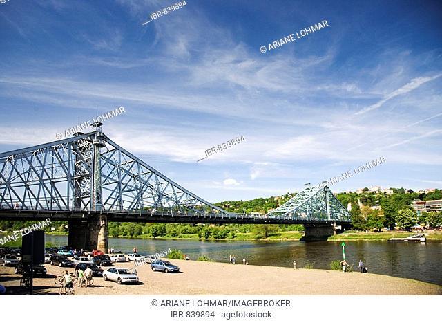 Blaues Wunder, Bridge, Blasewitz, Elbe River, Dresden, Saxony, Germany, Europe