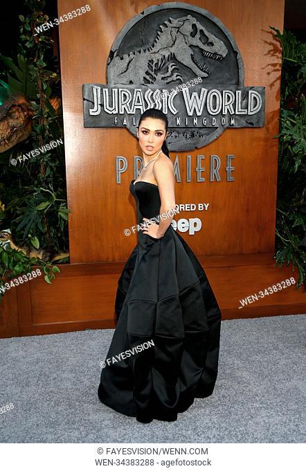 "Premiere Of Universal Pictures And Amblin Entertainment's """"Jurassic World: Fallen Kingdom"""" Featuring: Daniella Pineda Where: Los Angeles, California"