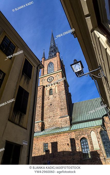 Riddarholmen church, the burial church of the Swedish monarchs, Stockholm, Sweden