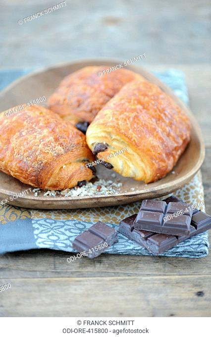 Chocolate and nut croissant