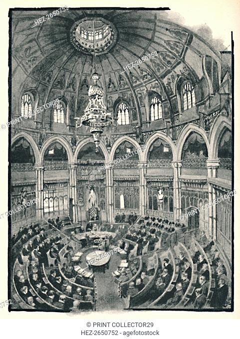 'The Guildhall - Council Chamber', 1891. Artist: William Luker