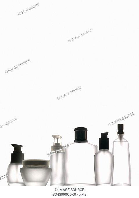 Empty bottles in a row