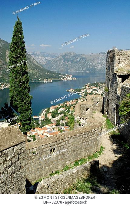 Town of Kotor, Kotor Bay, Unesco World Heritage Site, Montenegro, Crna Gora, Balkans
