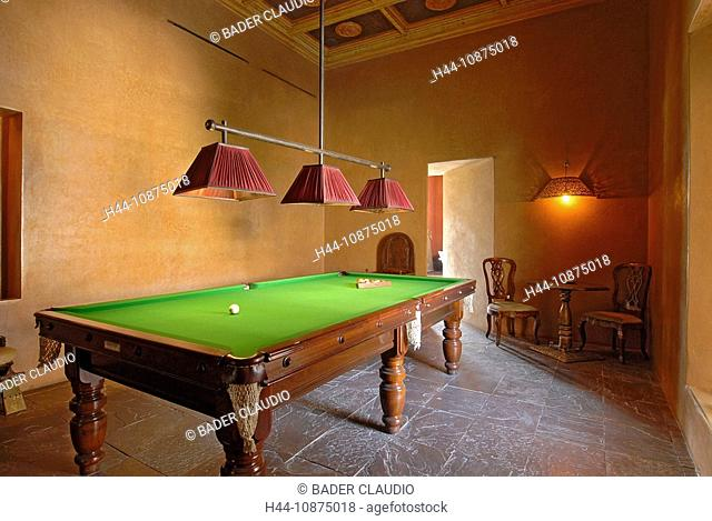 Morocco, Marrakech, billiards table, colonial style, billiards, play, game