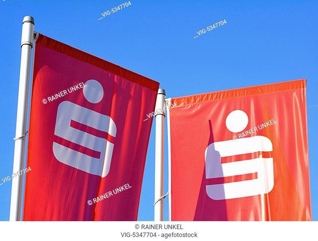 DEU , GERMANY : Flags of Savings Bank Cologne/Bonn , 29.09.2015 - Bonn, Northrhine-Westfalia, Germany, 29/09/2015