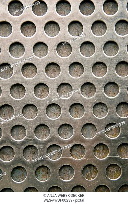 Perforated Steel full frame, close-up
