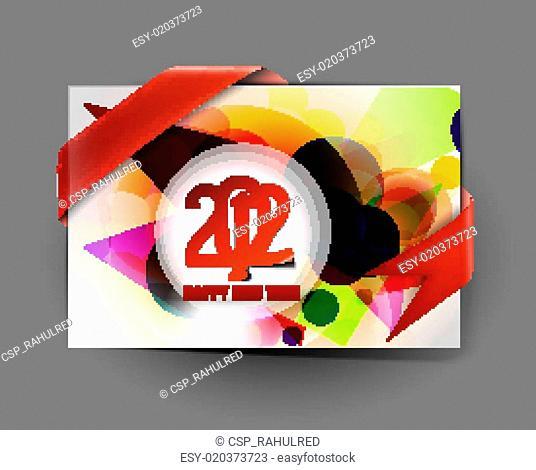 New year 2012 card design