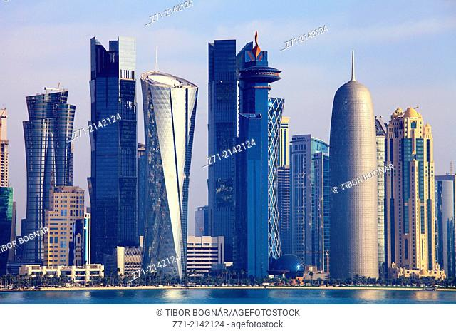 Qatar, Doha, West Bay, business district, skyline,