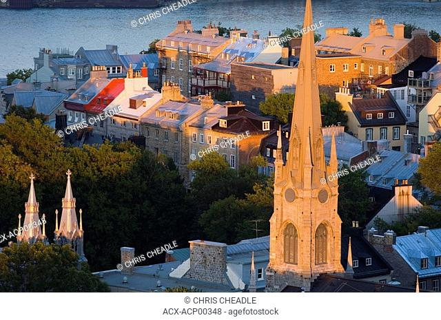 Anglican Cathedral of the holy trinity at sunset Quebec City, Quebec, Canada