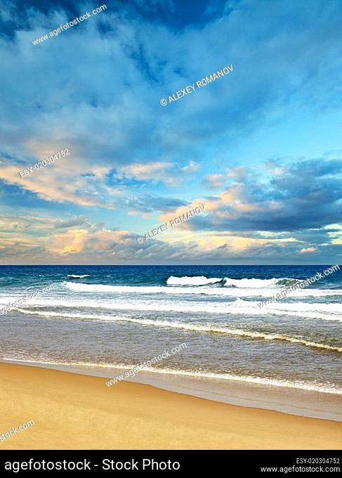 Surf on a tropical beach - without people landscape