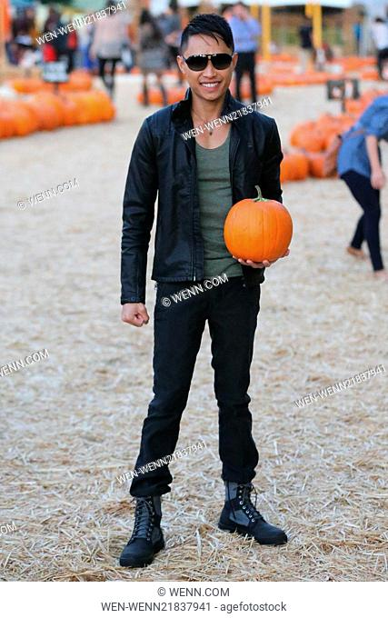 Adrian Voo arrives at Mr Bones Pumpkin Patch Featuring: Adrian Voo Where: Los Angeles, California, United States When: 18 Oct 2014 Credit: WENN.com