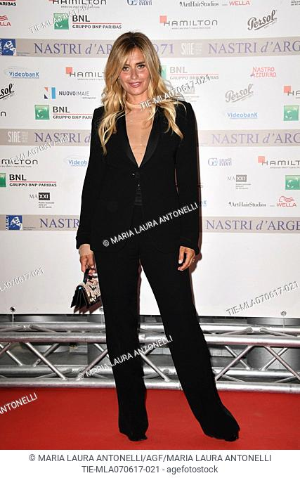 Angelica Russo during the photocall of nominations Nastri d'Argento 2017, Rome, ITALY-06-06-2017