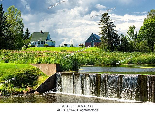 Waterfall, Glenwood Pond, Prince Edward Island, Canada