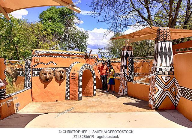 People enjoying Meerkat world at Reid Park Zoo in Tucson AZ