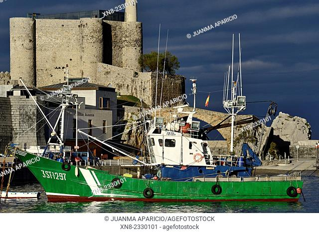 Fishing Boat in Castro Urdiales, Cantabria, Spain, Europe