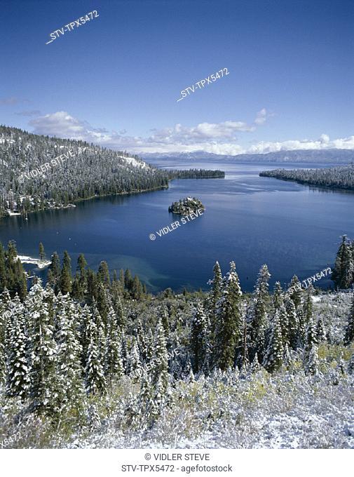 America, California, Emerald bay, Holiday, Lake tahoe, Landmark, Snow, Tahoe, Tourism, Travel, United states, USA, Vacation