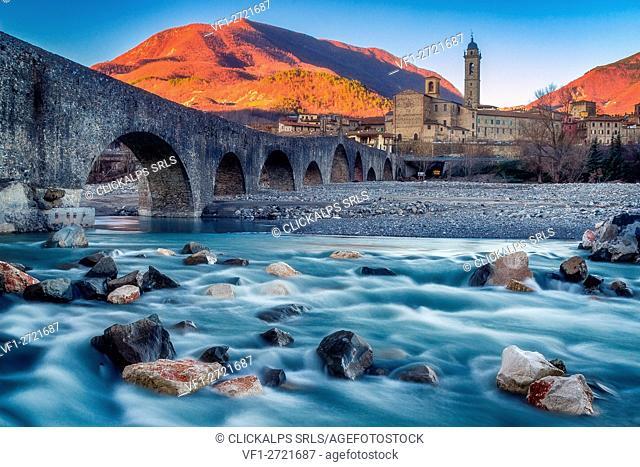 Devil Bridge in Bobbio, Trebbia Valley, Piacenza, Emilia Romagna, Italy