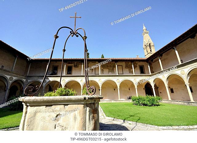 Italy, Florence, St. Croce, cloister