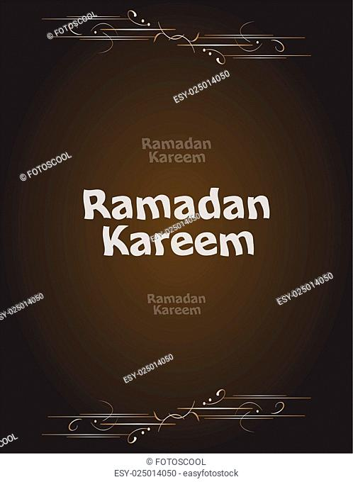 Ramadan Kareem. lettering composition of muslim holy month