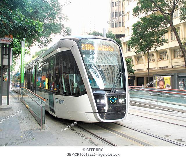 Light Rail Vehicle, VLT, 2016, Center, City, Rio de Janeiro, Brazil