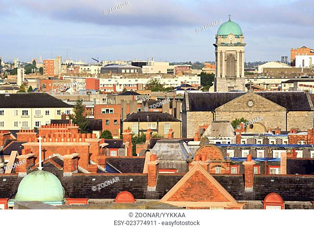 Morning view of downtown Dublin