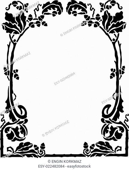 Decorative Art Nouveau Frame
