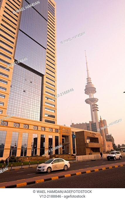 Modern High-Riser Building near the liberation tower, Kuwait City