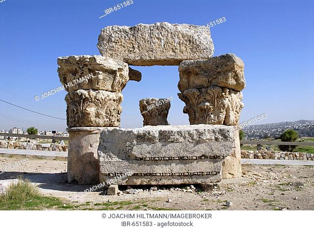 Ruins of the Roman Temple of Hercules, Jebel al-Qala, Amman, Jordan