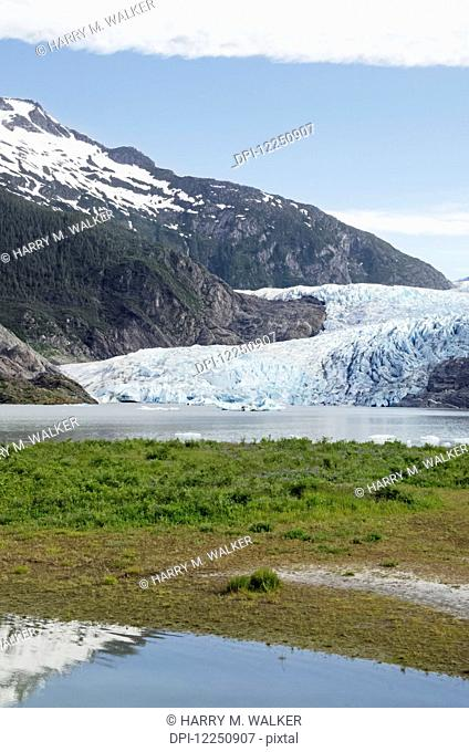 Mendenhall Glacier in Mendenhall Valley, Tongass National Forest; Alaska, United States of America
