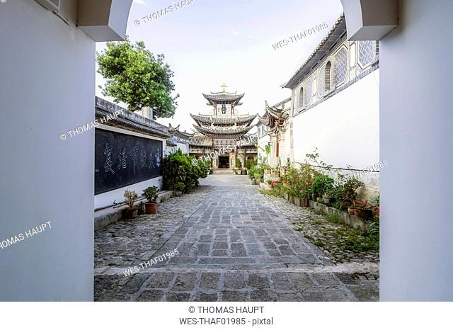 China, Yunnan, Dali, Wuhua Tower